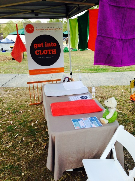 The Australian Nappy Association at the Green Heart Fair in Brisbane, October 2014