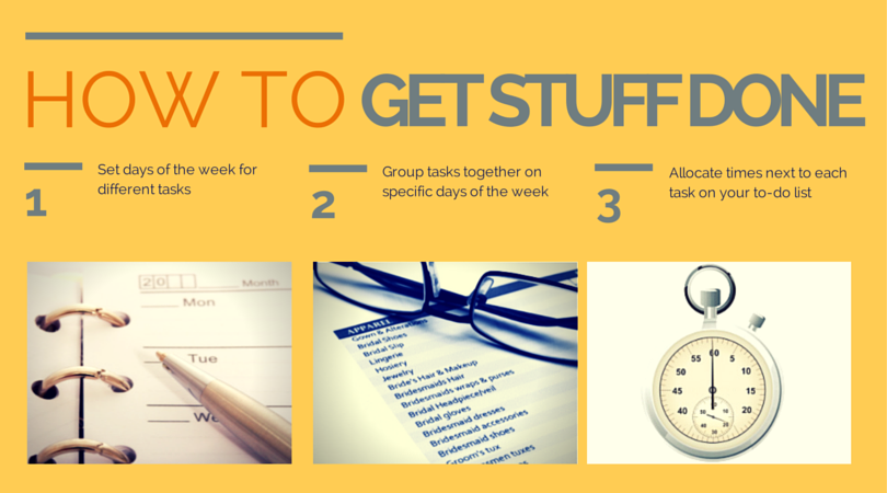 How to avoid business overwhelm and get stuff done.
