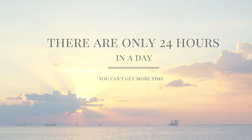 There are only 24 hours in a day - you can't get more time.