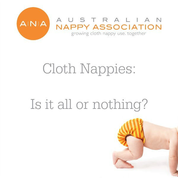 Cloth Nappies: Is it all or nothing? @ausnappy #clothnappies #getintocloth
