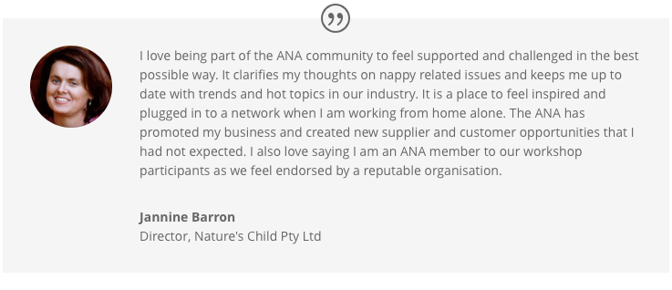 Jannine Barron speaks about why she loves the ANA