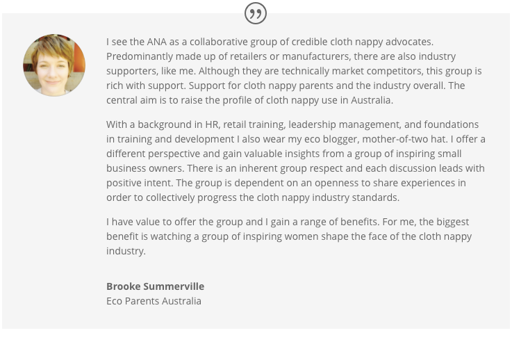 Brooke Summerville speaks about why she loves the ANA