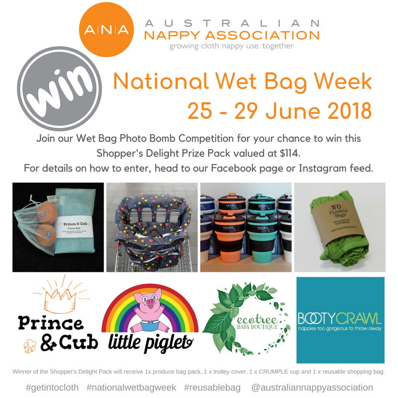 Join in the fun of National Wet Bag Week and you could win this Shopper's Delight eco prize pack!
